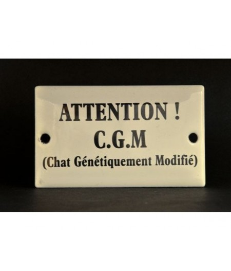 ART-AG60~AttentionCGMChat-Plaqueémaillée