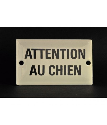 ART-AT60~ATTENTIONAUCHIEN-Plaqueémaillée