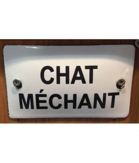 ART-CM60~chatmechant6x10cmplaqueemaillee