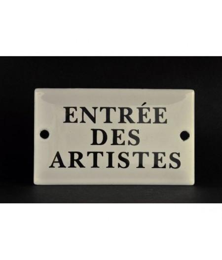 ART-EA60~ENTREEDESARTISTES-Plaqueémaillée