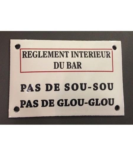 ART-GL150~Reglementinterieurdubar-plaqueemai