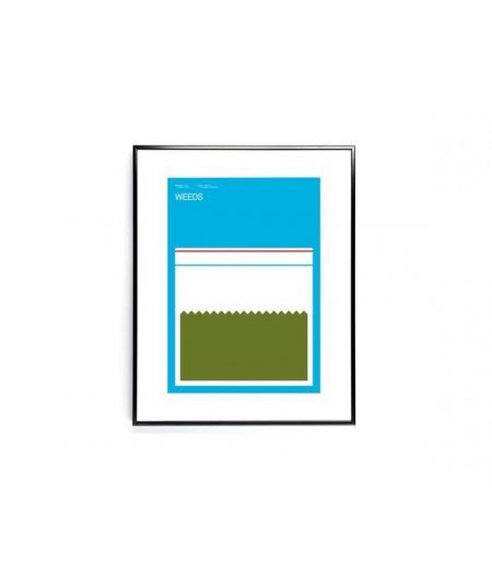 30x40 cm Exergian TV Weeds - Affiche Image Republic