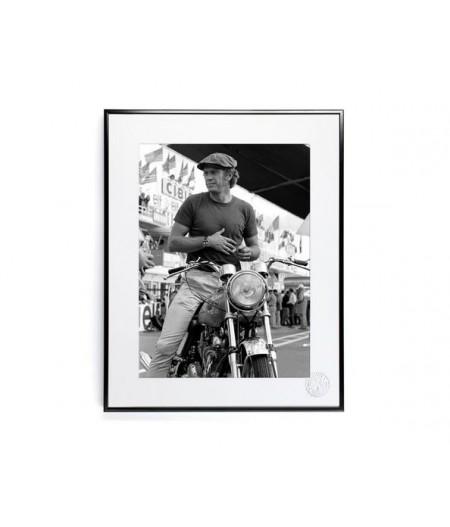 30x40 cm La Galerie McQueen Moto - Affiche Image Republic