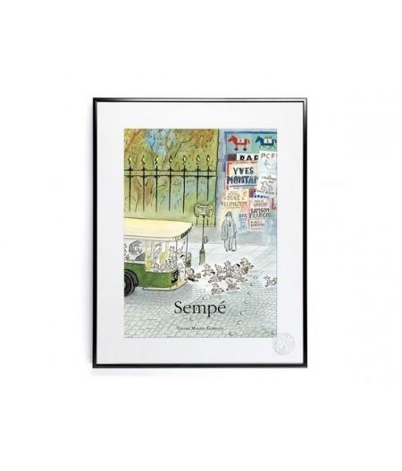 30x40 cm Sempé Bus - Affiche Image Republic