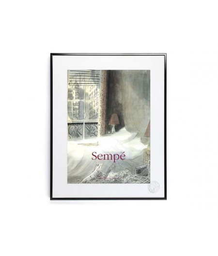 30x40 cm Sempé Chat Paris - Affiche Image Republic
