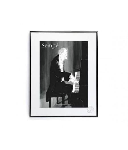 30x40 cm Sempé Piano - Affiche Image Republic