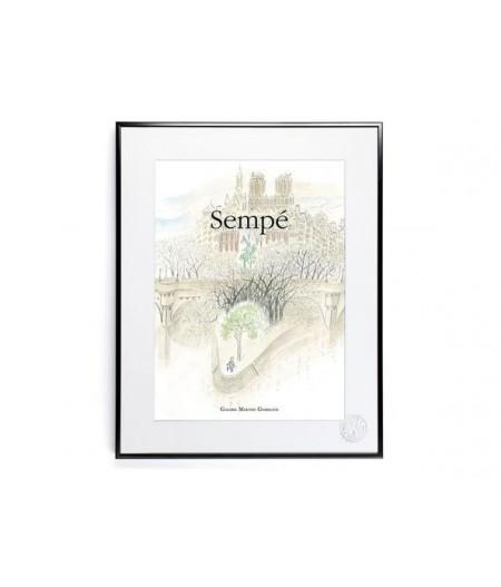 30x40 cm Sempé Pont Neuf - Affiche Image Republic