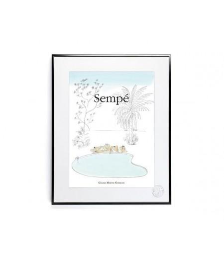30x40 cm Sempé Piscine - Affiche Image Republic