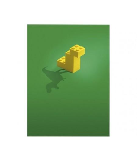 40x50 cm Lego Dinosaure 002 - Affiche Image Républic