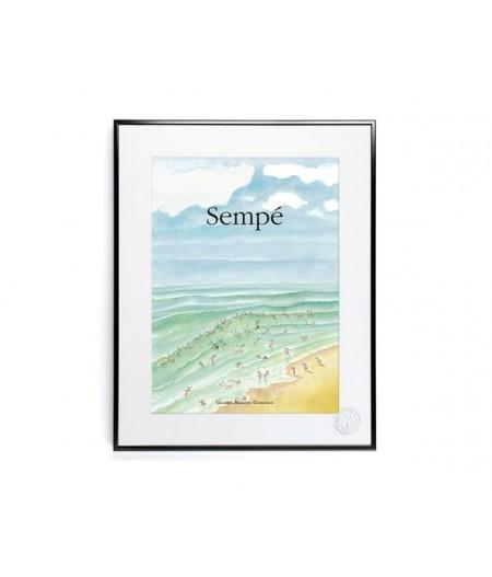 40x50 cm Sempé Baignade - Affiche Image Republic