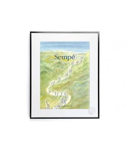 40x50 cm Sempé Chemin dans dunes - Affiche Image Republic,