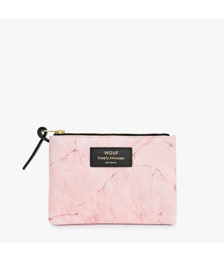 Petite pochette Marbre rose Small Pouch - Wouf