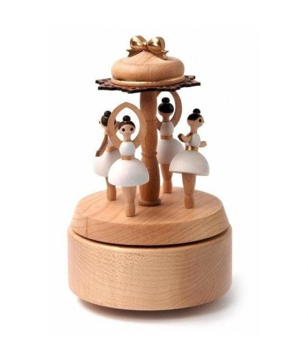 Ballerina Multi Rotate Music Box - Wooderful Life