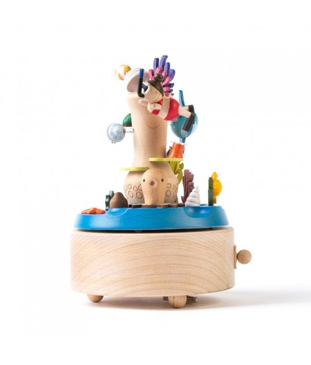 Snorkeling On Reef - Double Rotate Music Box - Wooderful life - L'Ornithorynque Marseille