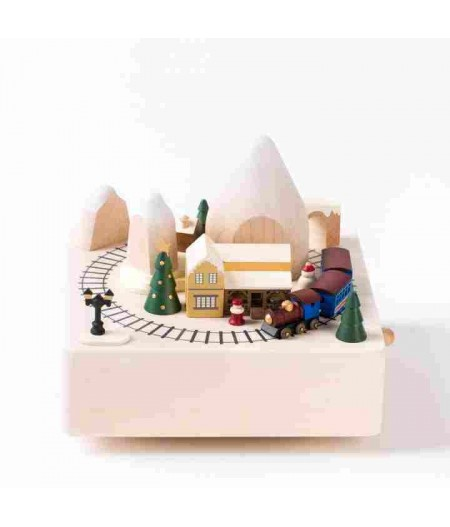 Winter Train - City Wooden Music Box - Wooderful life - L'Ornithorynque Marseille
