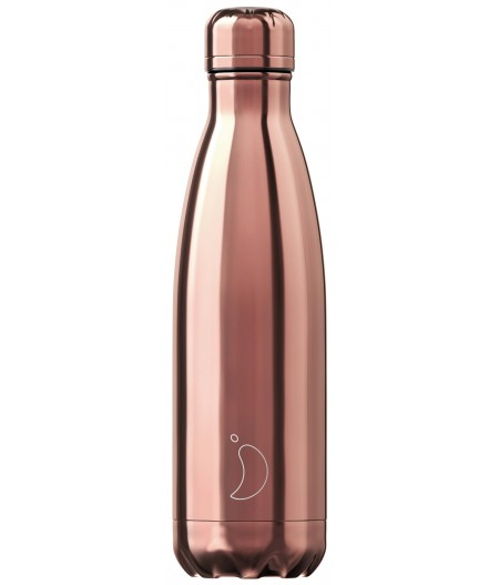 Gourde Thermos Chrome 500ml Rose Gold Chilly's Bottle