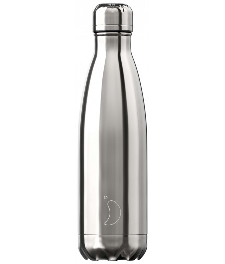 Gourde Thermos Chrome 500ml Silver Chilly's Bottle