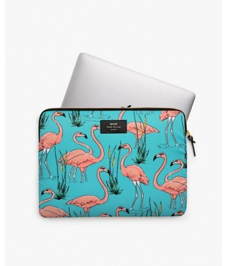 Housse ordinateur 15'' Pink Flamingos 15'' - Wouf