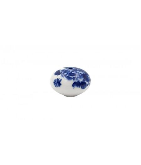 Poignée cocotte boule céramique bleue - Cookut