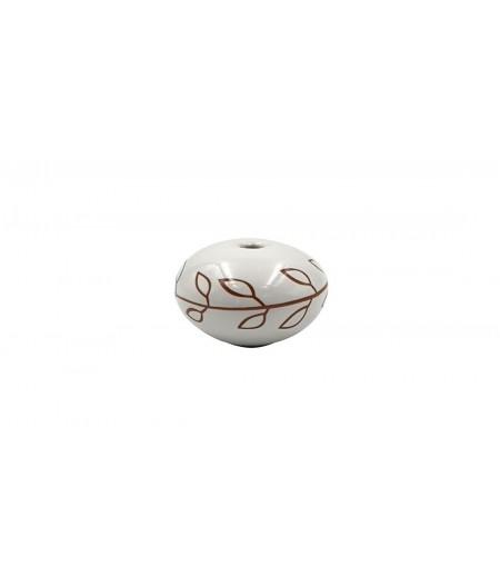 Poignée cocotte boule céramique blanche - Cookut