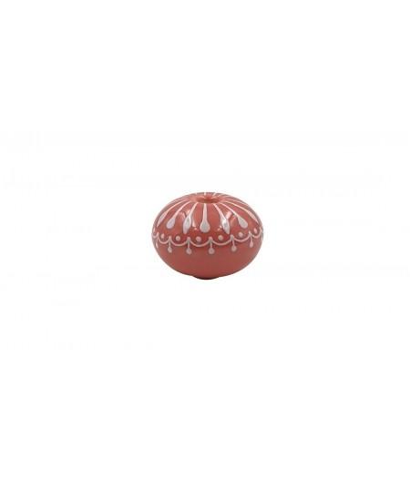 Poignée cocotte boule céramique rose - Cookut