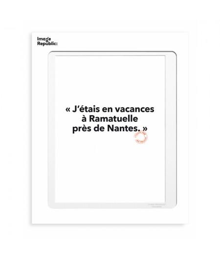 30x40 Cm Loic Prigent 92 J'étais en vacances - Image Republic