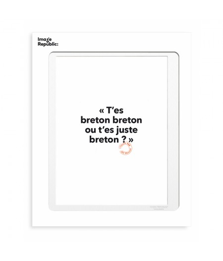 30x40 Cm Loic Prigent 103 T'es Breton Breton - Image Republic