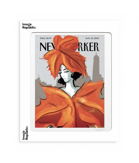 40x50 cm The New Yorker 190 Schossow Dressing For Fall Nov18 2019  - Affiche Image Republic