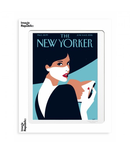 40x50 cm The New Yorker 86 Favre Page Turner 143208  - Affiche Image Republic
