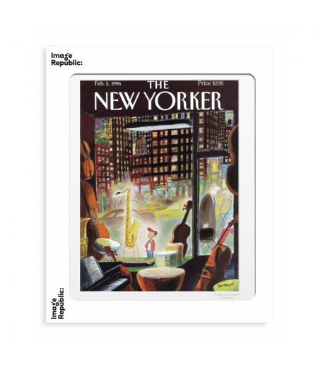 40x50 cm The New Yorker 62 Sempe The Boy Saxophone 1996 50843 - Affiche Image Republic