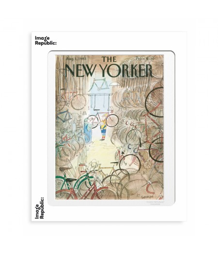 40x50 cm The New Yorker 59 Sempe Garage Velos 1983 50537 - Affiche Image Republic