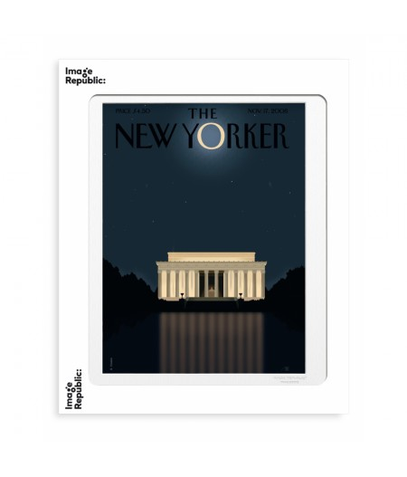40x50 cm The New Yorker 52 Staake Lincoln 126233 - Affiche Image Republic