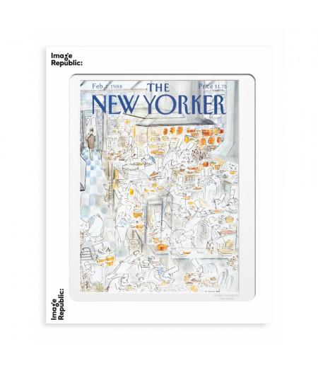 40x50 cm The New Yorker 42 Sempe Restaurant 50622 - Affiche Image Republic