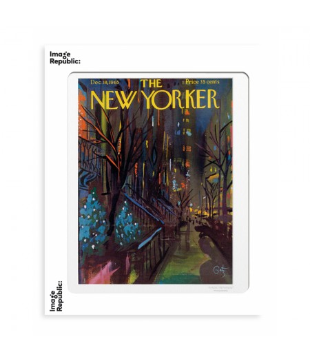40x50 cm The New Yorker 166 Getz Christmas In Nyc 49880 - Affiche Image Republic
