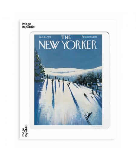 40x50 cm The New Yorker 120 Getz Skiers Make Their Way 50179 - Affiche Image Republic,