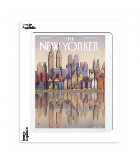 40x50 cm The New Yorker 111 Gurbuz Twin Towers 68130 - Affiche Image Republic