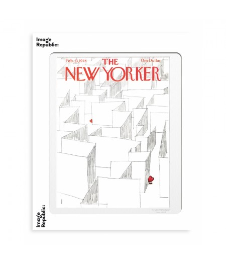 40x50 cm The New Yorker 181 Weber Labyrinth Of Hearts 47731 - Affiche Image Republic