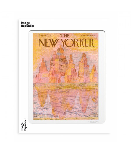 40x50 cm The New Yorker 179 Mihaesco Nyc Outline 50297 - Affiche Image Republic