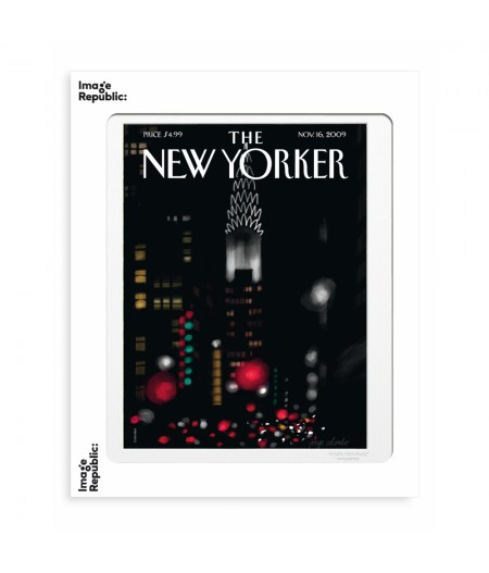 40x50 cm The New Yorker 102 Colombo Night Lights - Affiche Image Republic