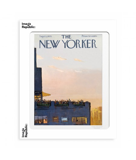 40x50 cm The New Yorker 122 Getz Roof Party 50080 - Affiche Image Republic