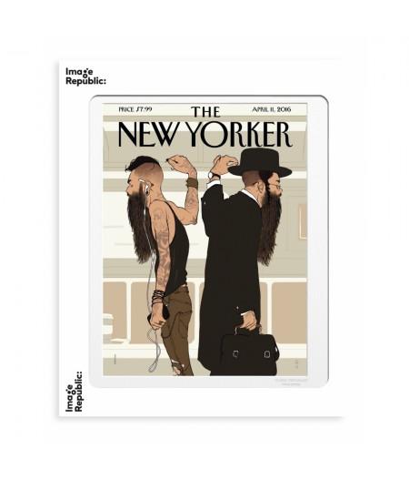 40x50 cm The New Yorker 176 Hanuka Take The L Train 142994 - Affiche Image Republic