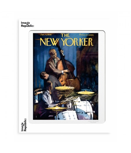 40x50 cm The New Yorker 172 Getz Band Playing 49508 - Affiche Image Republic