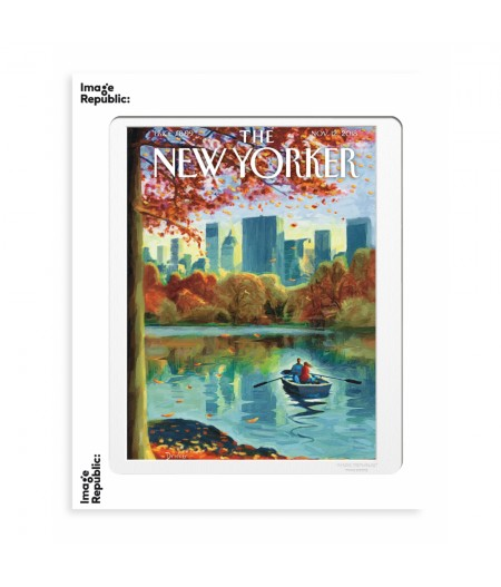 40x50 cm The New Yorker 170 Drooker Row Boat 145898 - Affiche Image Republic