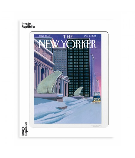 40x50 cm The New Yorker 164 Mccall Polar Bears Fifth Avenue - Affiche Image Republic