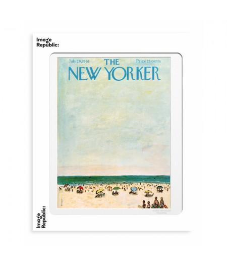 40x50 cm The New Yorker 161 Birnbaum Families at the beach - Affiche Image Republic