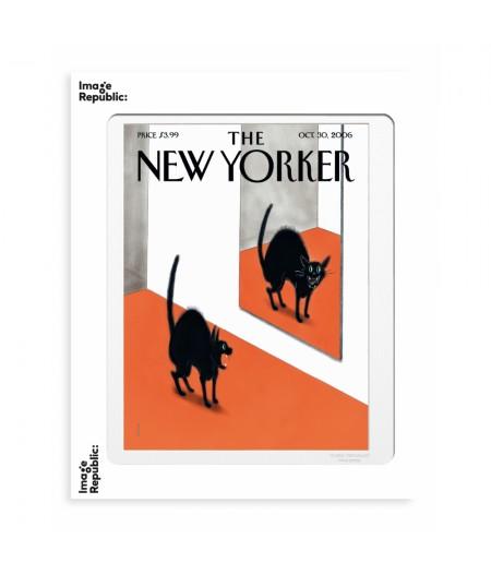 40x50 cm The New Yorker 158 Falconer Black Cat Halloween - Affiche Image Republic