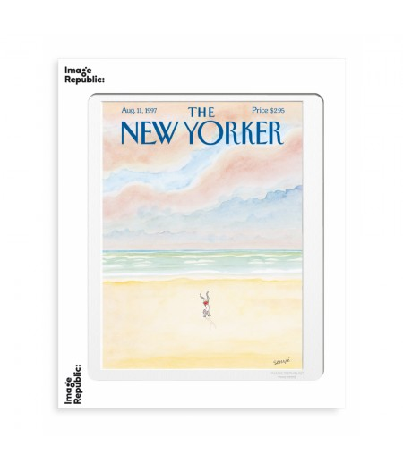 40x50 cm The New Yorker 134 Sempé Man doing a handstand - Affiche Image Republic