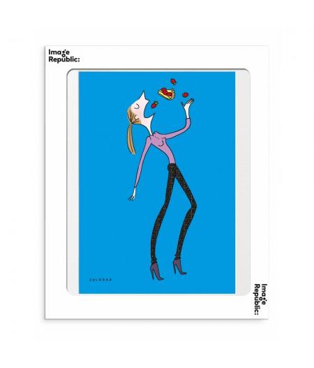 30x40 cm Soledad Fraises - Affiche Image Republic