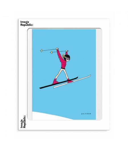 30x40 cm Soledad Saut Ski - Affiche Image Republic