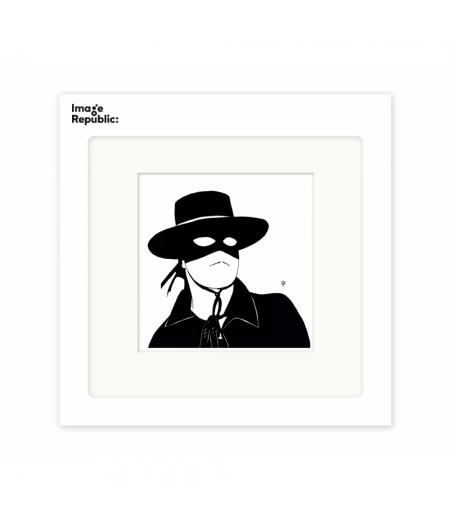 22x22 cm Pechelune Présence046 Zorro - Affiche Image Republic